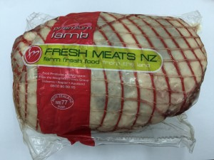 netted rolled lamb leg